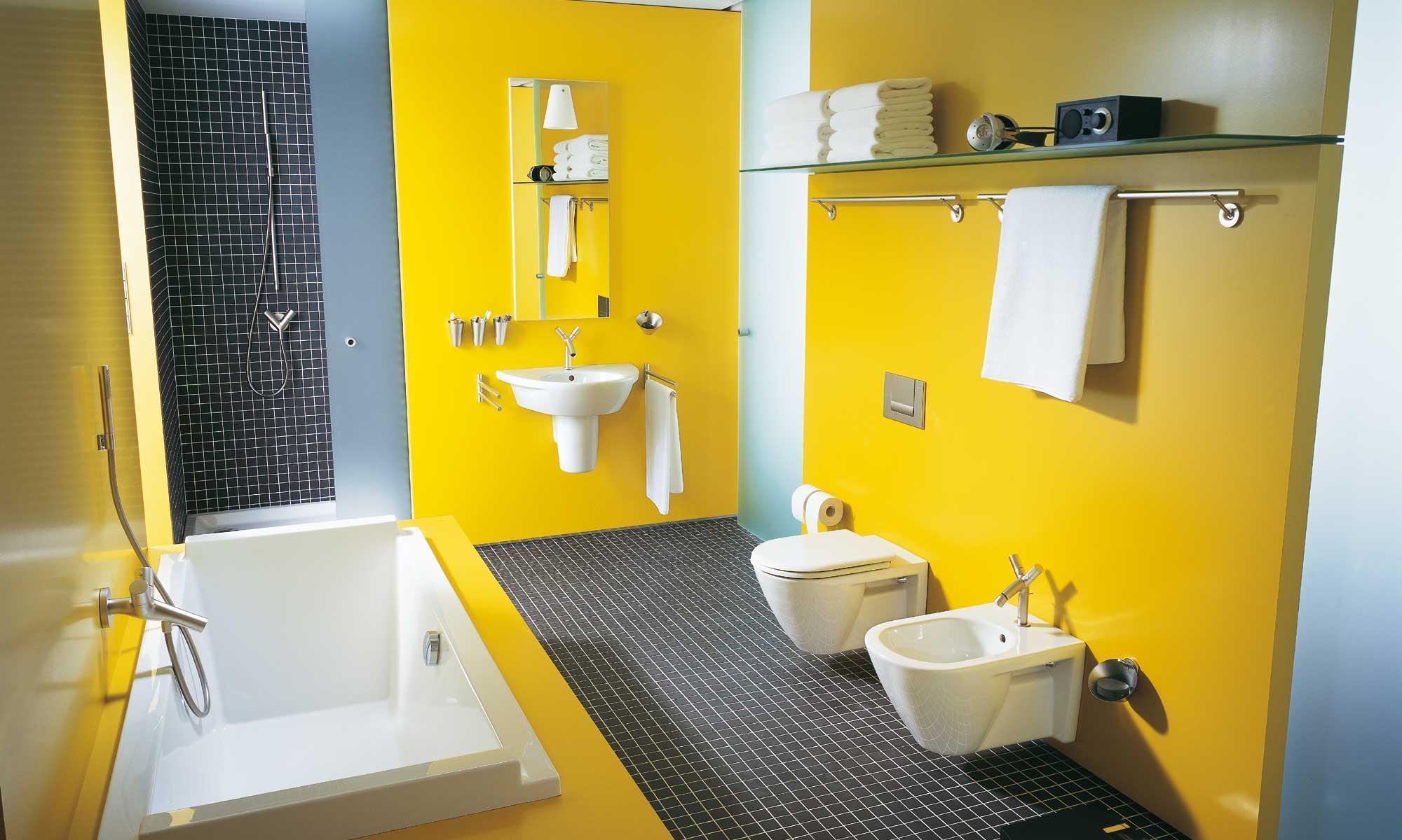 Дизайн ванной с инсталляцией