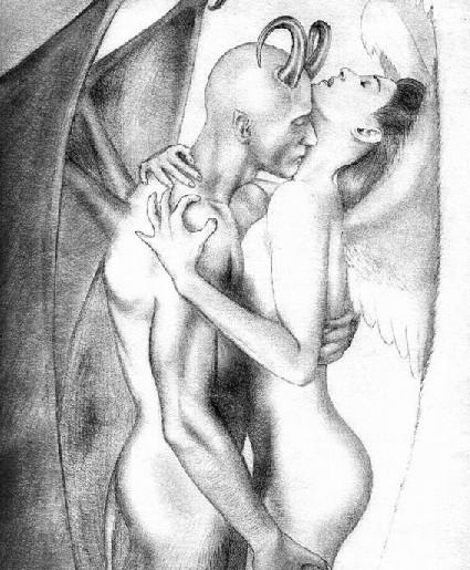 Поделиться FB. Рисовать карандашом ангелов и демонов Скачать: Маленкий.