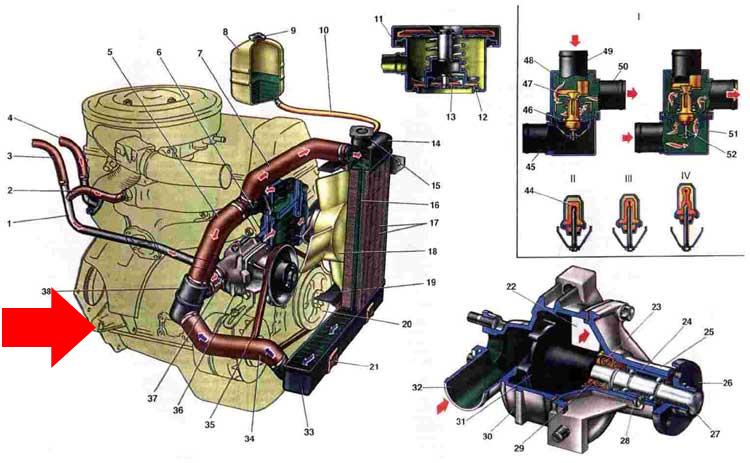 Охлаждения двигателя ваз 2110 с охлаждения инжекторного двигателя м 1 5 4 скачать схему Ваз 2110 скрепят задние...