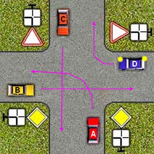 какой символ ставится со знаком основная дорога ежели дорога изменяет н