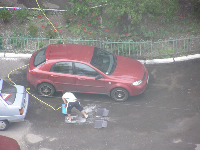 было Можно ли во дворе мыть машину станем