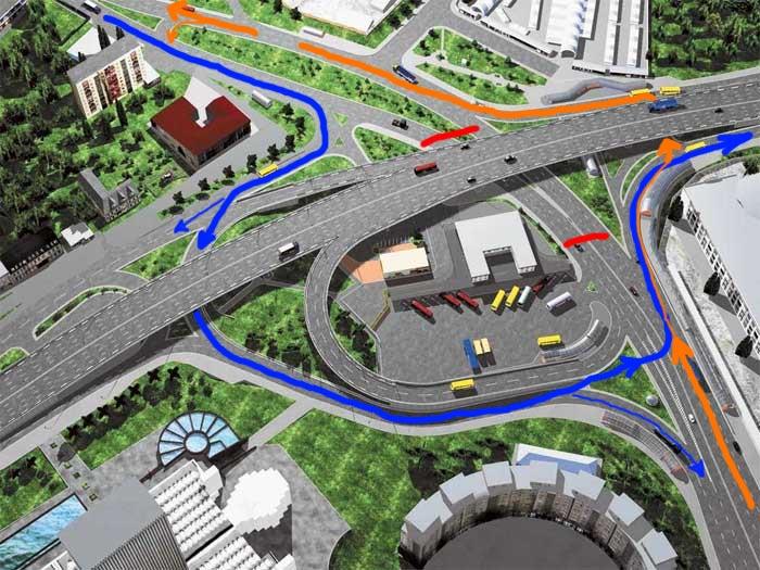Усем афтолюбителям Схема обновленной развязки на Московской площе.