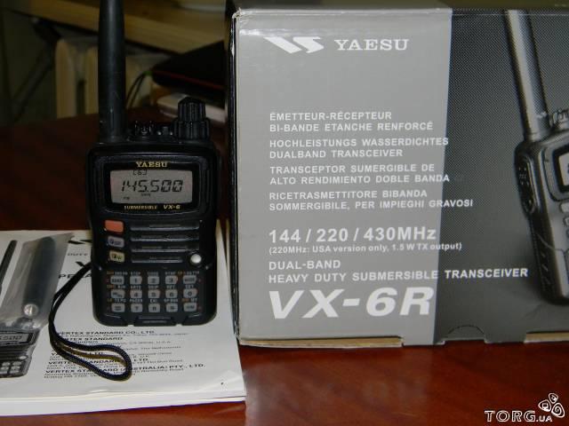 Продам рацию YAESU VX 6r в