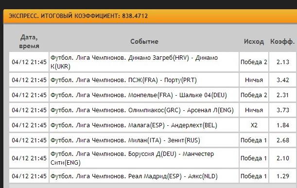Олимпиакос grc боруссия д deu счёт