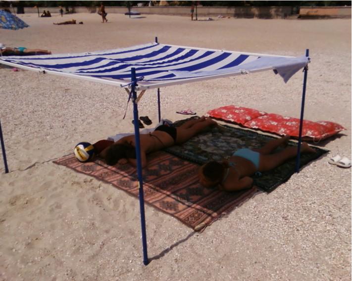 Как сделать пляжный тент своими руками